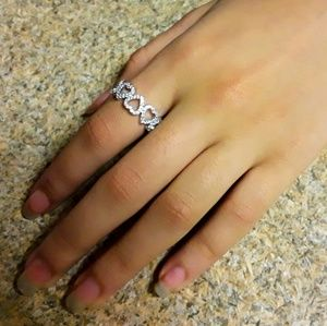 Jewelry - Stirling Silver size 8 Heart Ring